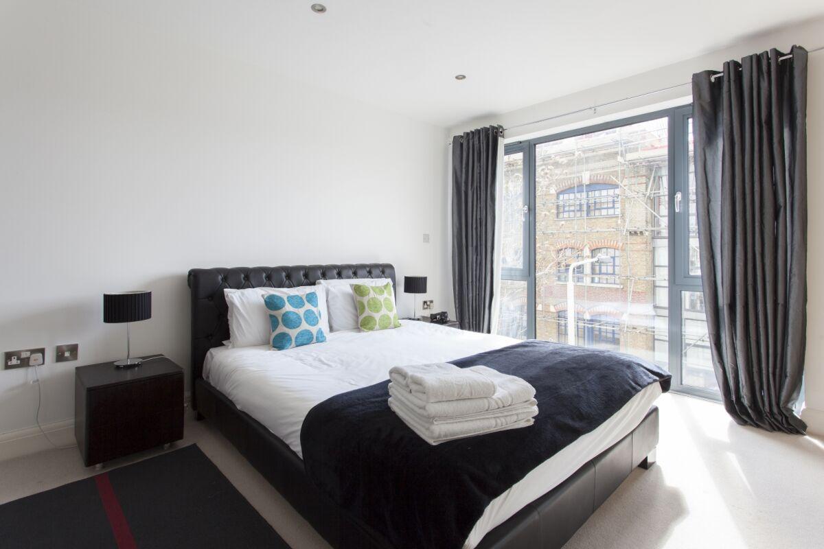 Bedroom, London Bridge Serviced Apartments, Southwark, London