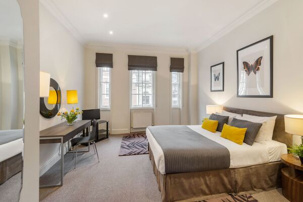 Bedroom, Chelsea Sloane Square Serviced Apartments, Chelsea