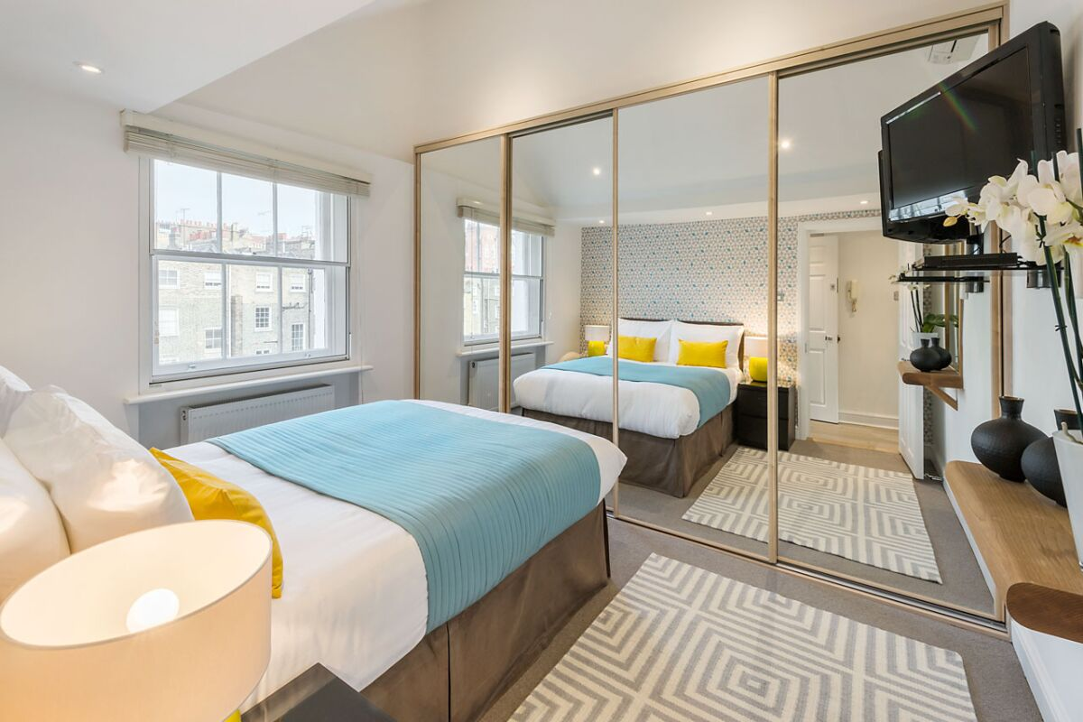 Double Bedroom, Crawford Street Serviced Apartments, Marylebone
