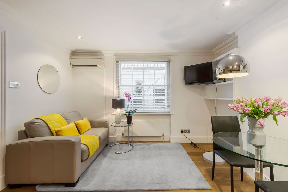 Living room, Gloucester Place Serviced Apartments, Marylebone