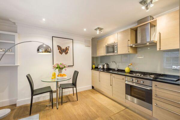 Kitchen, Gloucester Place Serviced Apartments, Marylebone