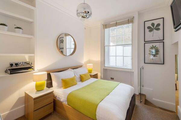 Master Bedroom, Gloucester Place Serviced Apartments, Marylebone