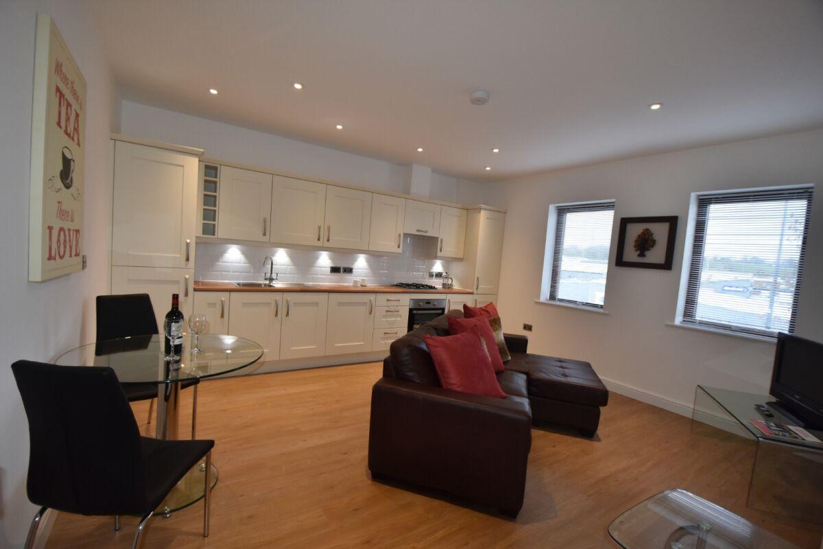 Open Plan Living Area, Midland Way Serviced Apartments, Bristol