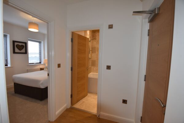 Bedroom Hallway, Midland Way Serviced Apartments, Bristol