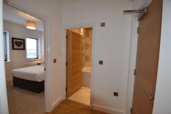 Bedroom Hallway, Midland Way Serviced Apartments, Bristol