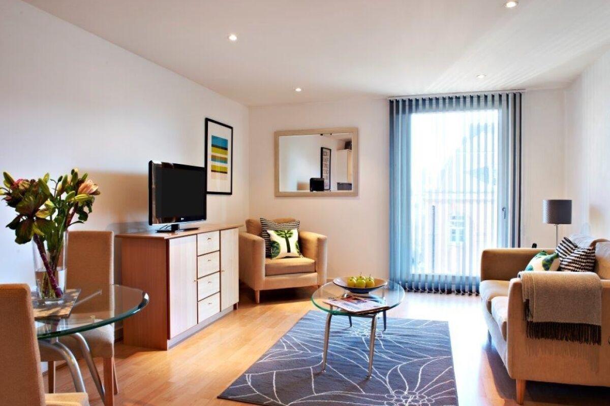 Living Room, Horseshoe Court, Serviced Apartments, Clerkenwell