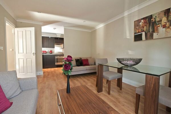 Dining and Living Area, Keller Court Serviced Apartments, Horsham