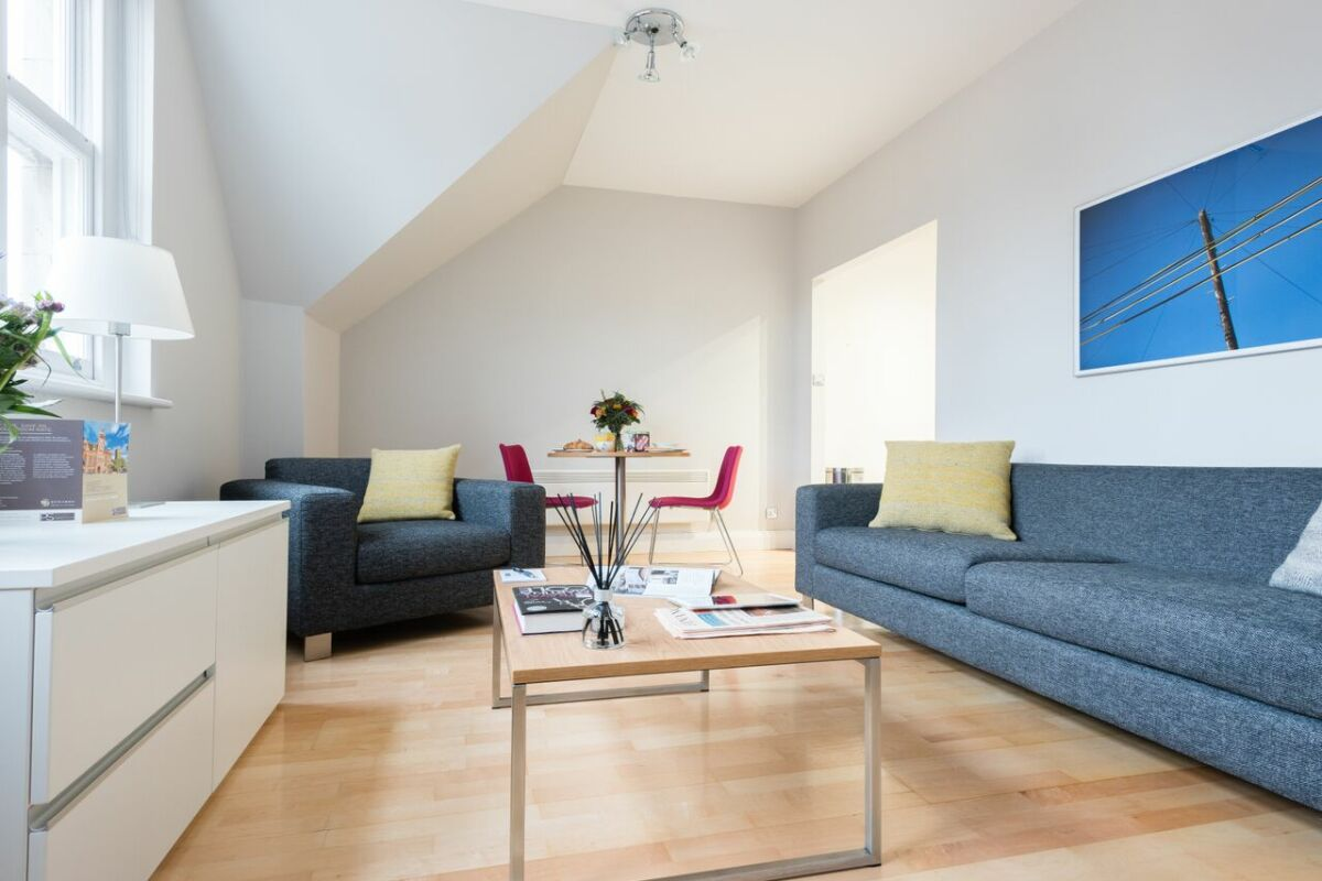 Living Area, Bath Street Serviced Apartments, Glasgow