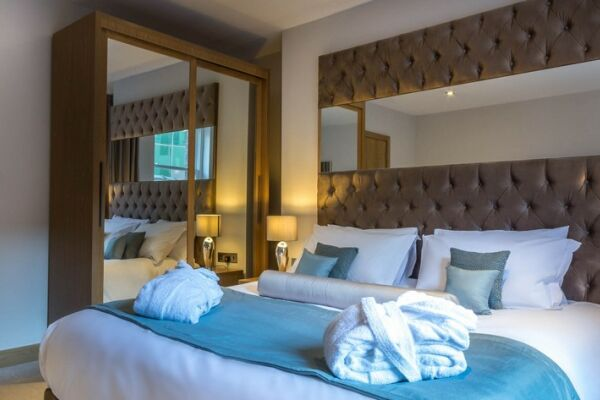 Bedroom, Basinghall Serviced Apartments, Leeds