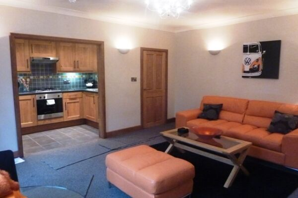 Living Room, Hewlett Road Serviced Apartments, Cheltenham