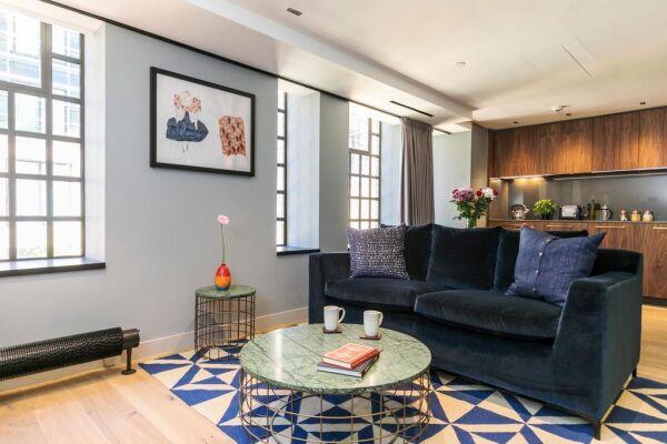 Open Plan Living Area, Bankside Serviced Apartments, London