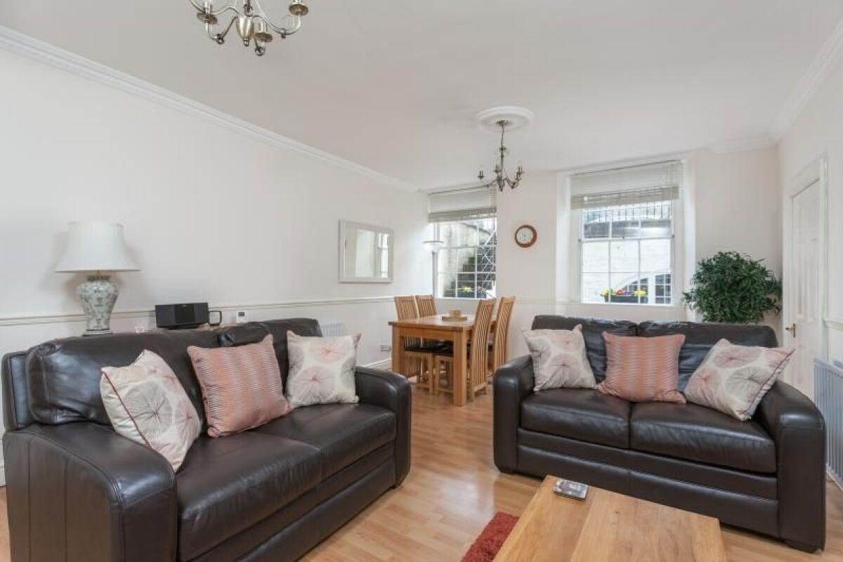Living Area, Vane Garden Serviced Apartment, Bath