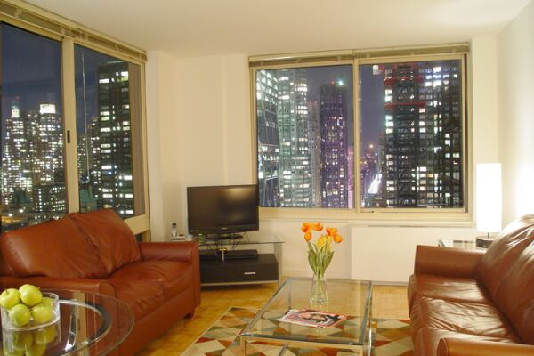 Living Room, The Marc Serviced Apartments, Hell's Kitchen, New York