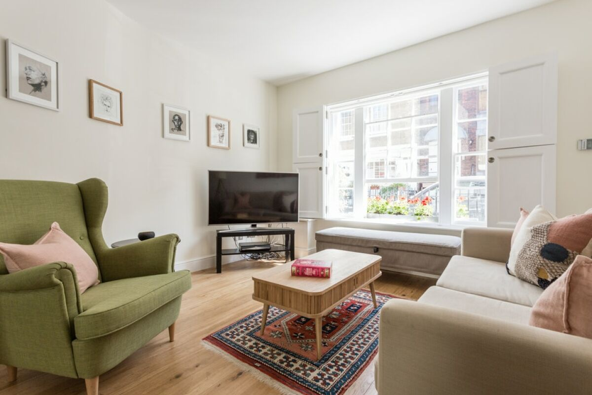 Living Area, Linhope Street Serviced Accommodation, Marylebone
