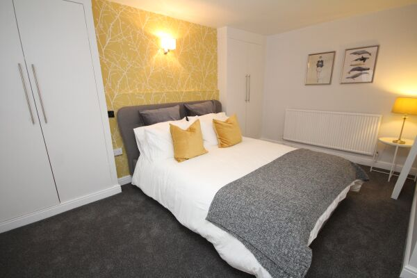 Bedroom, The Courtyard Serviced Apartment, Leamington Spa