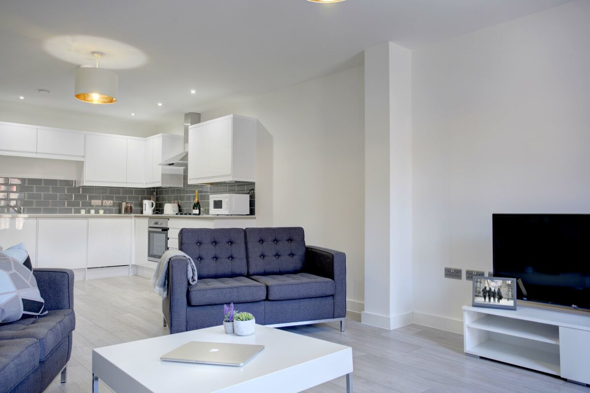 Open Plan Living Area, The Baltic Residence Serviced Accommodation, Liverpool
