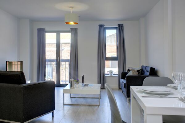 Living Area, The Baltic Residence Serviced Accommodation, Liverpool
