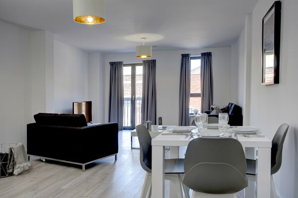 Living and Dining Area, The Baltic Residence Serviced Accommodation, Liverpool