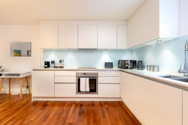 Kitchen, Trafalgar Place Serviced Apartment, London