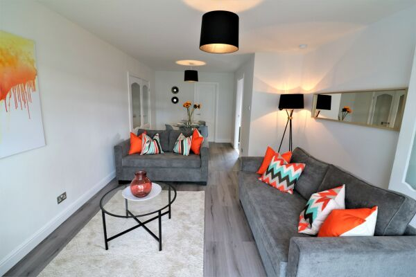 Living Area, Brora House Serviced Accommodation, Hamilton