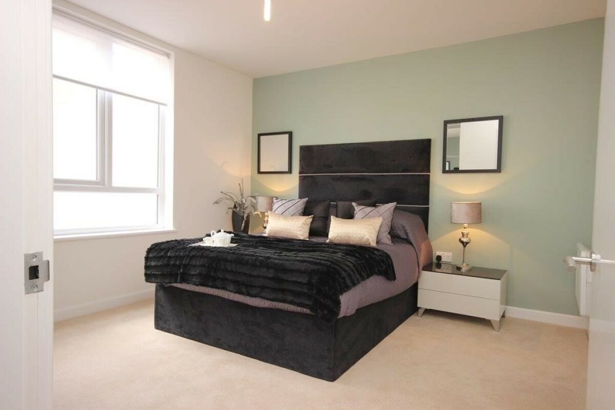 Bedroom, The Town Serviced Apartments, Hatfield
