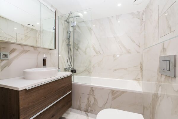 Bathroom, Novy Arbat Serviced Apartments, Moscow