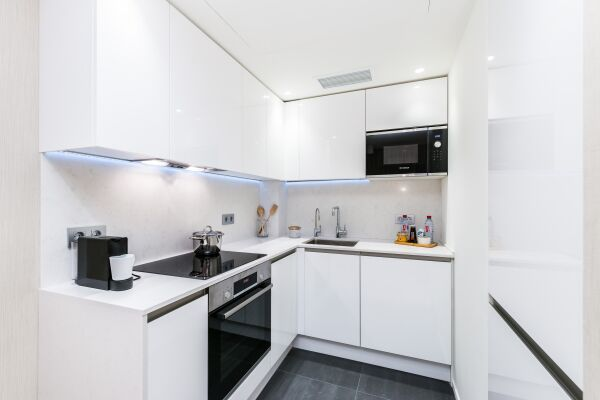 Kitchen, Novy Arbat Serviced Apartments, Moscow