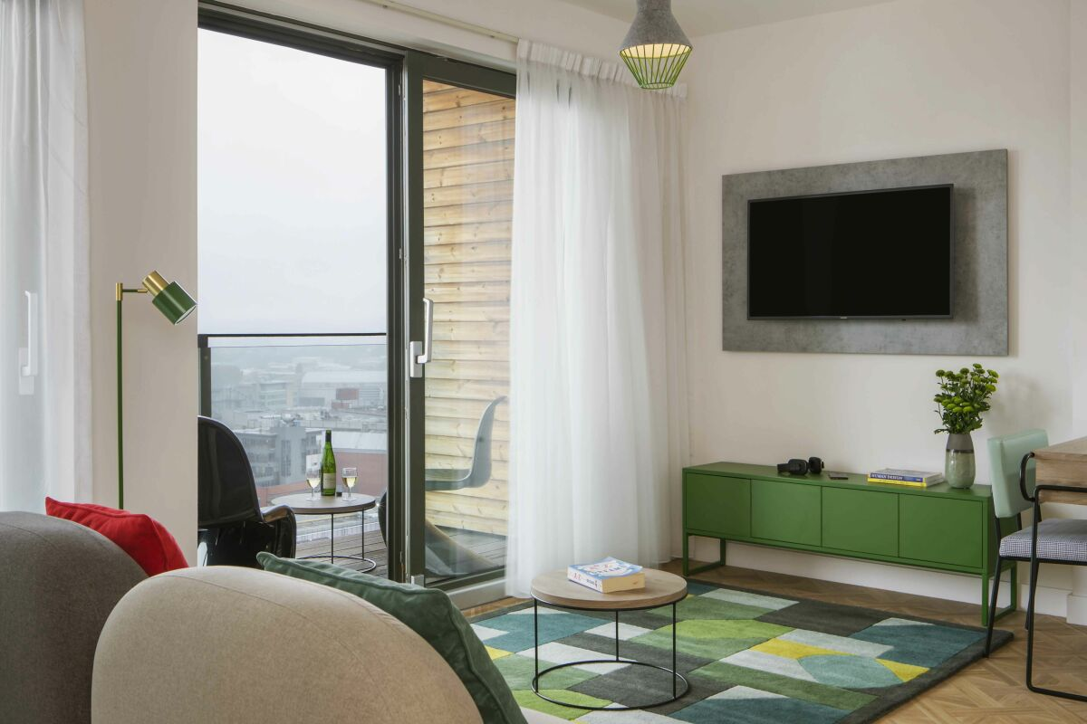Living Area, Church Street Serviced Apartments, Manchester