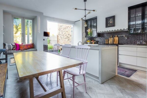 Kitchen and Dining Area, Plympton Road Serviced Accommodation, London