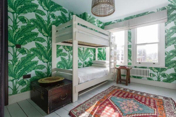 Bedroom, Plympton Road Serviced Accommodation, London
