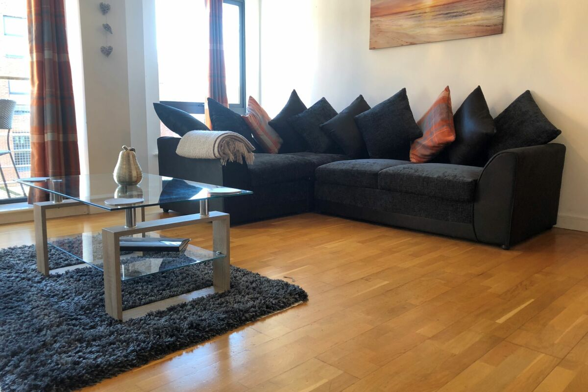 Living Room, Manhattan Place Serviced Apartments, Liverpool