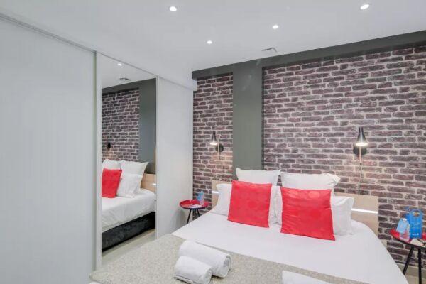 Bedroom, Saint Denis III Serviced Apartment, Paris