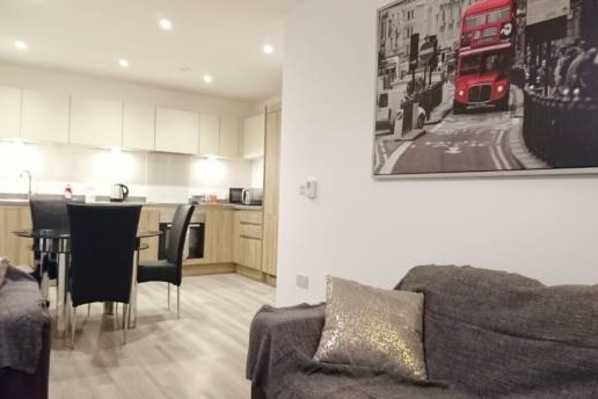 Living Area, Regents Place Serviced Apartments, Bromley