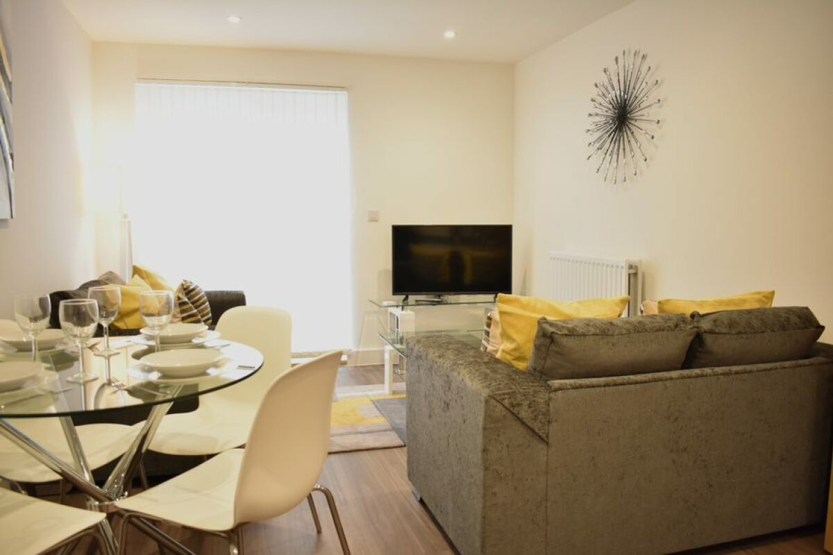 Living Area, Duke of Wellington Court Serviced Apartments, Cheltenham