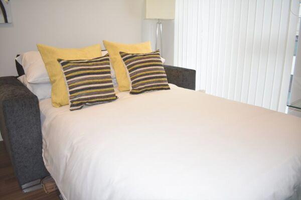 Sofa bed, Duke of Wellington Court Serviced Apartments, Cheltenham