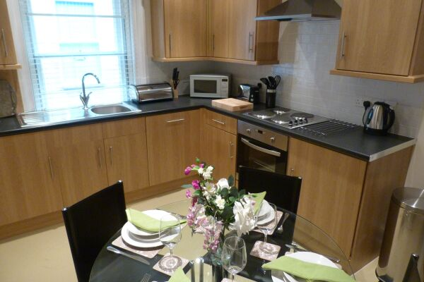 Kitchen, One & Two Bed, The Old Courthouse, Hughendend Road Serviced Apartments, High Wycombe