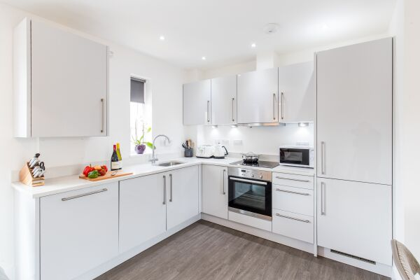 Kitchen Area, Oval View Serviced Apartments, Hemel Hempstead