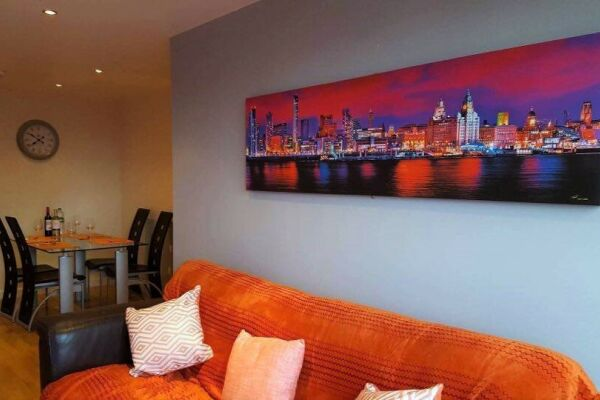 Living Room, Liverpool Serviced Apartments, Liverpool