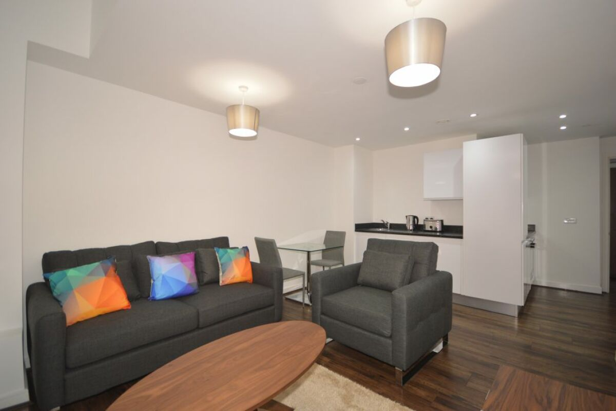 Living Area, The Strand Serviced Apartment, Liverpool