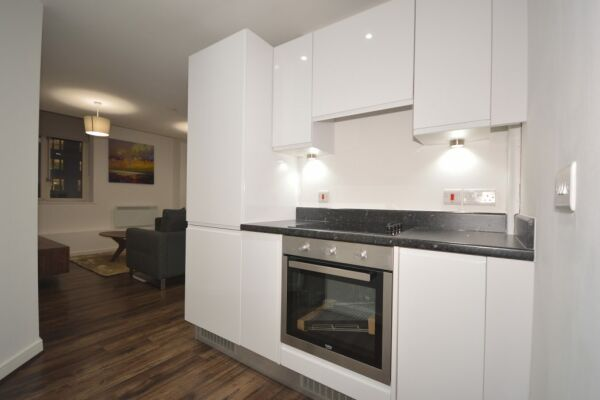 Kitchen, The Strand Serviced Apartment, Liverpool