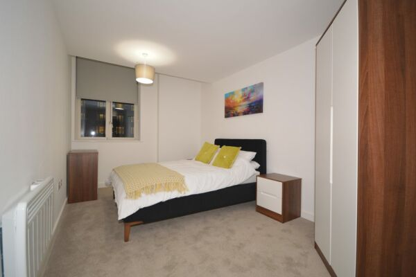 Bedroom, The Strand Serviced Apartment, Liverpool