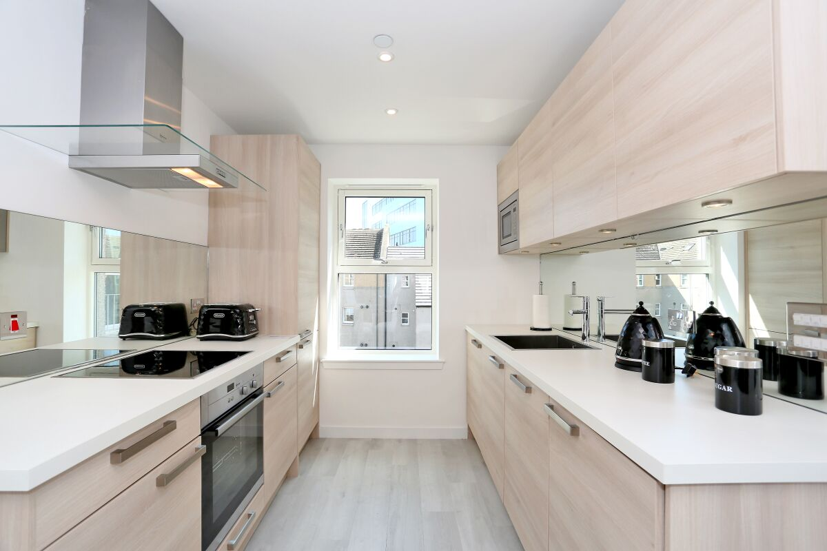 Kitchen, Chapel Street Serviced Apartments, Aberdeen
