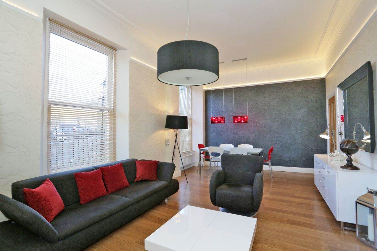 Living Area, Golden Square Serviced Apartments, Aberdeen