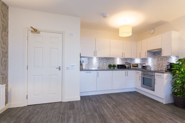 Kitchen, Charleston Serviced Apartments, Aberdeen