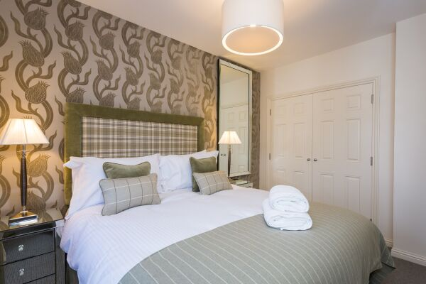 Bedroom, Charleston Serviced Apartments, Aberdeen