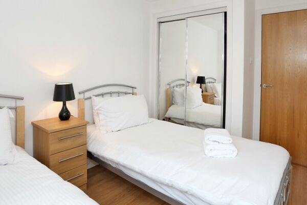 Bedroom, Dee Village Serviced Apartments, Aberdeen