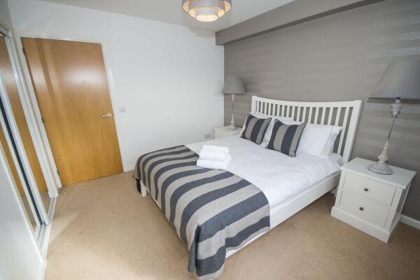 Bedroom, Portland Street Serviced Apartments, Aberdeen