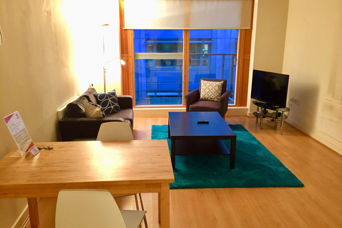 Living Area, Old Street Deluxe Serviced Apartments, London