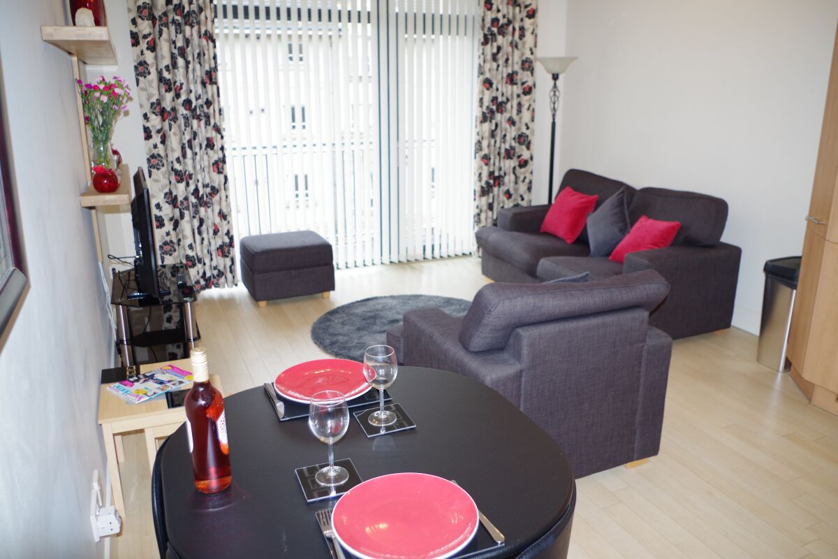 Living Area, Hopetoun Street Serviced Apartment, Edinburgh