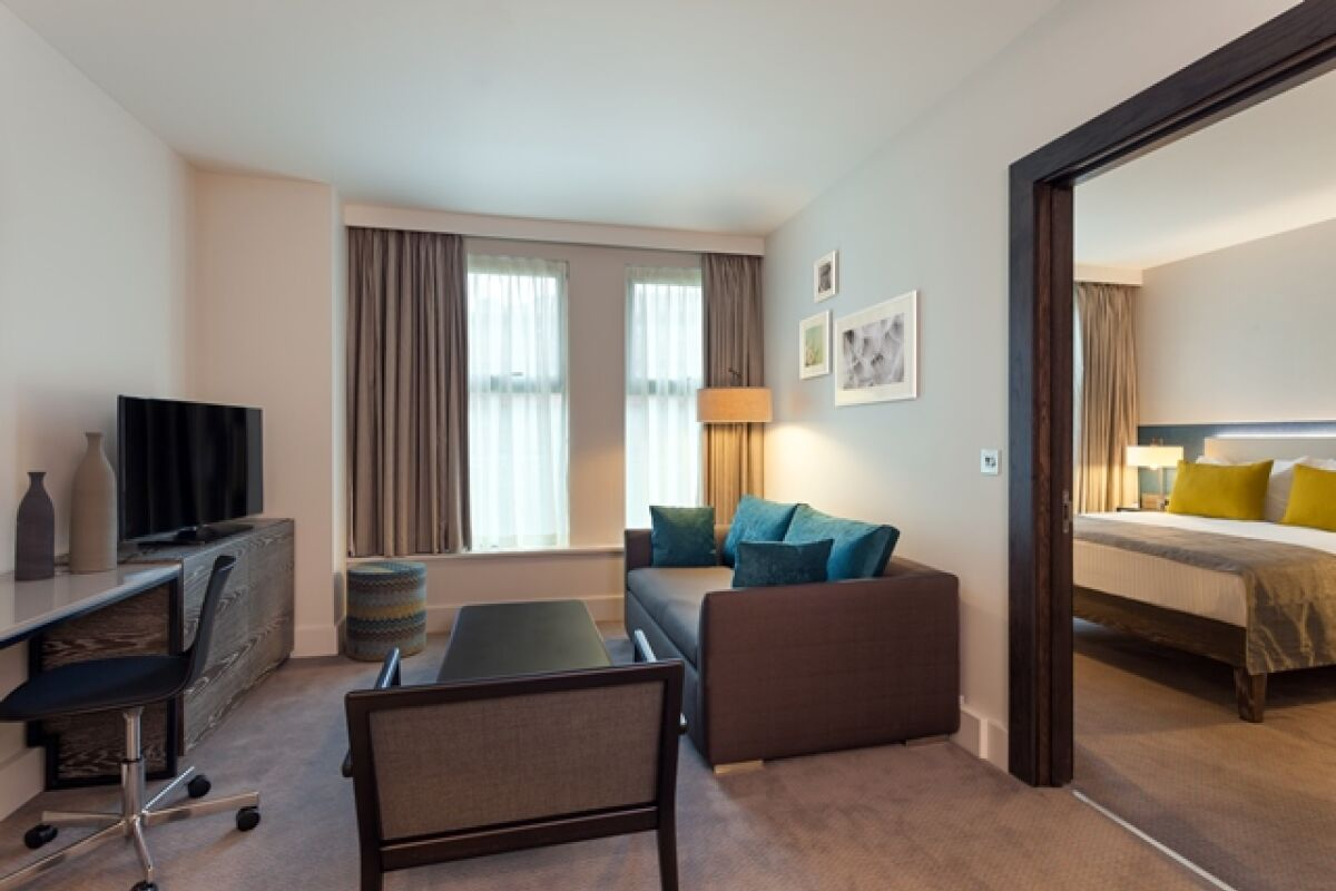 Living Area, Vauxhall Walk Serviced Apartments, London
